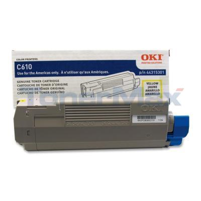 OKI C610 TONER CARTRIDGE YELLOW